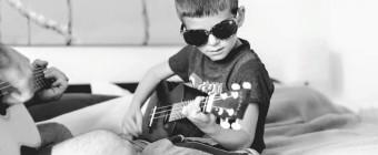 J'adore jouer de la musique avec ma famille!